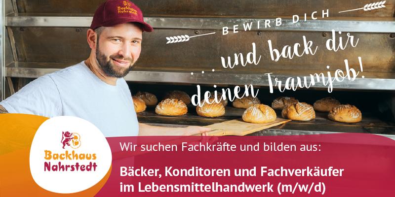 Backhaus Nahrstedt: Bewirb dich jertzt!