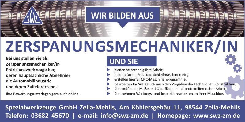 Spezialwerkzeuge GmbH Zella-Mehlis: Bewirb dich jertzt!