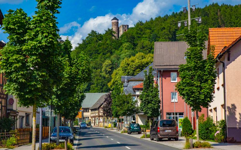 Steinbach-Hallenberg mit Burgruine