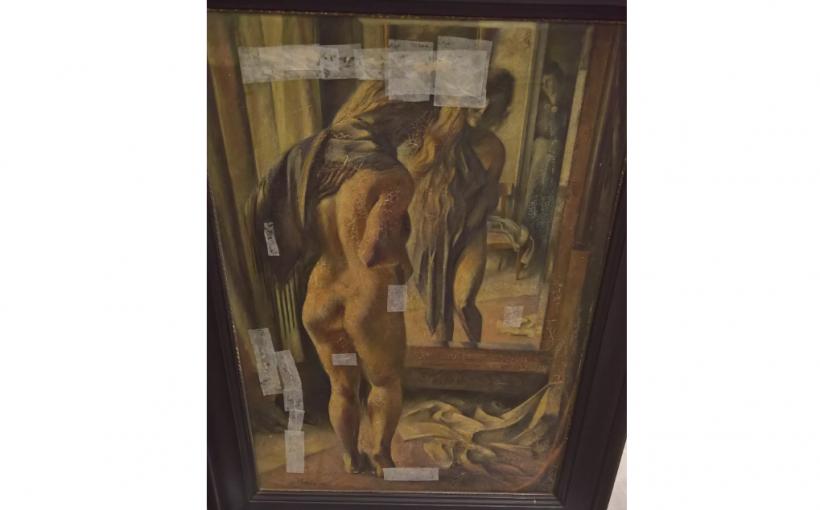 Bild Waffenmuseum Otto Schön Mädchen im Spiegel
